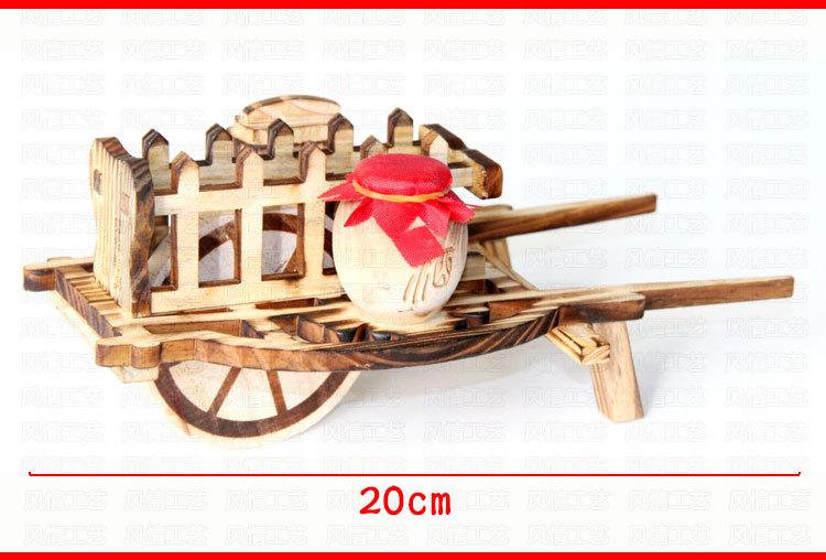 旅游工艺品批发 仿古木制独轮车