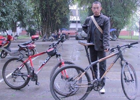 陕西:竹子制成的自行车