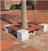 树池凳广场靠背方形围树椅公园围树凳