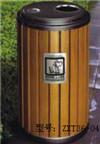 公园景点物业街道钢木分类果皮箱