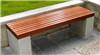 振兴休闲石凳椅 防腐木花岗岩长凳 规格定制