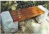 广场双人凳子 户外休闲石材长木凳 实木凳型号