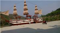优质厂家定制室外龙舟 景观木船安装厂家