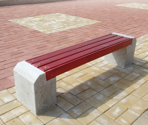 广场休息花岗岩椅 公共休闲石椅采购