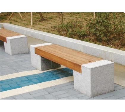 拱门石木雕刻公园休闲椅 设计椅脚石凳图片