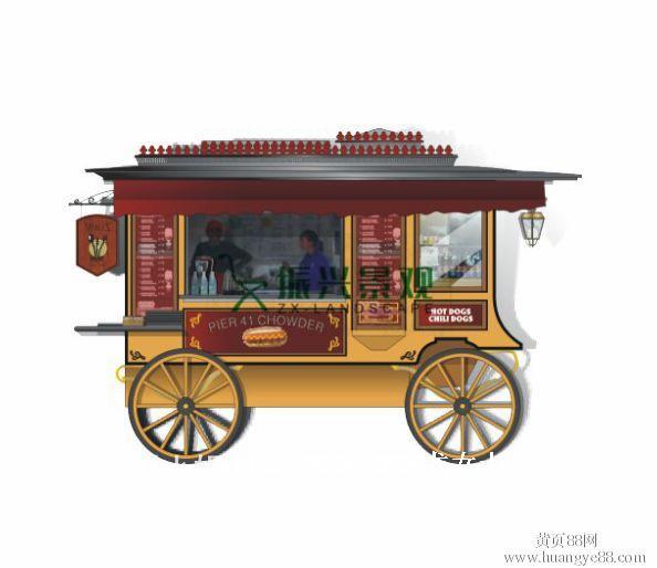 揭阳商业售卖车 步行街移动小吃车 售卖车来图定制