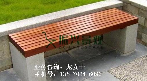 郁南别墅花院休闲石木椅子石板凳来图定制