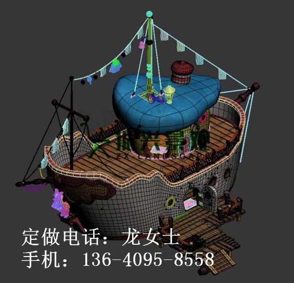 顺德玻璃钢景观雕塑船定做【振兴】