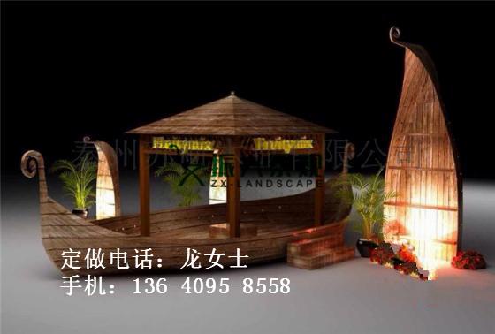 欧式木船厂家 【振兴】提供装饰乌篷船 酒店摆设景观船