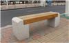 公园休息石座椅长凳 老人石木坐凳特制厂家