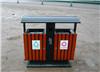 防腐木垃圾箱 实木分类果皮箱 厂家低价直销