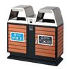 耐用垃圾桶果皮箱 实木垃圾桶 双桶垃圾箱室外垃圾桶