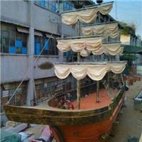 时代广场园林景观装饰船 园区花样渔船摆件