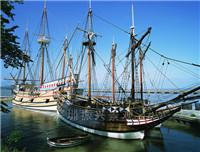 户外主题公园仿真绿植船 制作景观木船 供应商