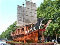 景观装饰木船 海盗船 创意不锈钢雕塑骨架