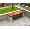 闲花岗岩石木椅 石料工艺品石凳 天然石凳长条椅
