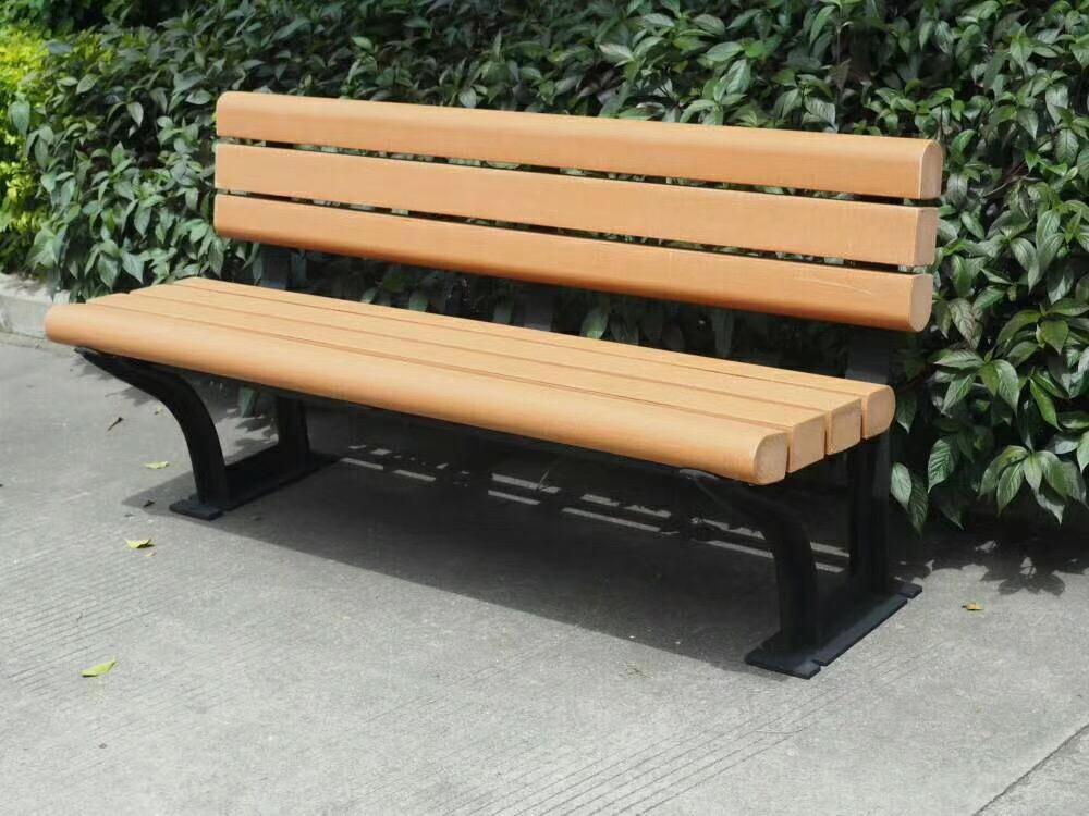 优质防腐木耐用靠椅_广场 小区园林休闲椅子定做找振新