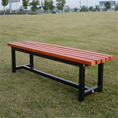 公园休闲坐椅-情侣双人长木椅-振欣户外家具