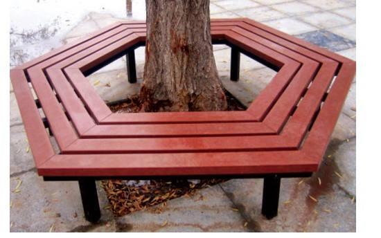 振興樹圍椅優惠廠家便宜定制  花園圍樹椅可任顏色
