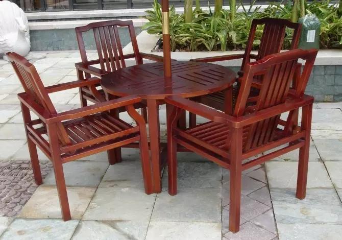 戶外套桌椅材質咨詢 公園套桌色板圖片 振欣定制