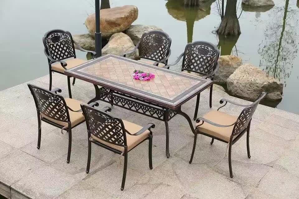 質量好的木質套桌椅 鐵藝套桌椅 生產成品出廠價對比